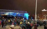 Protest în Piaţa Victoriei faţă de modificarea legilor Justiţiei