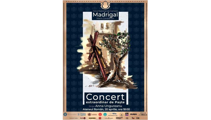 Corul Madrigal – Concerte extraordinare de Paşte, sâmbătă şi duminică în Parcul Ateneului
