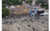 PNL – miting electoral în Piața Victoriei din București