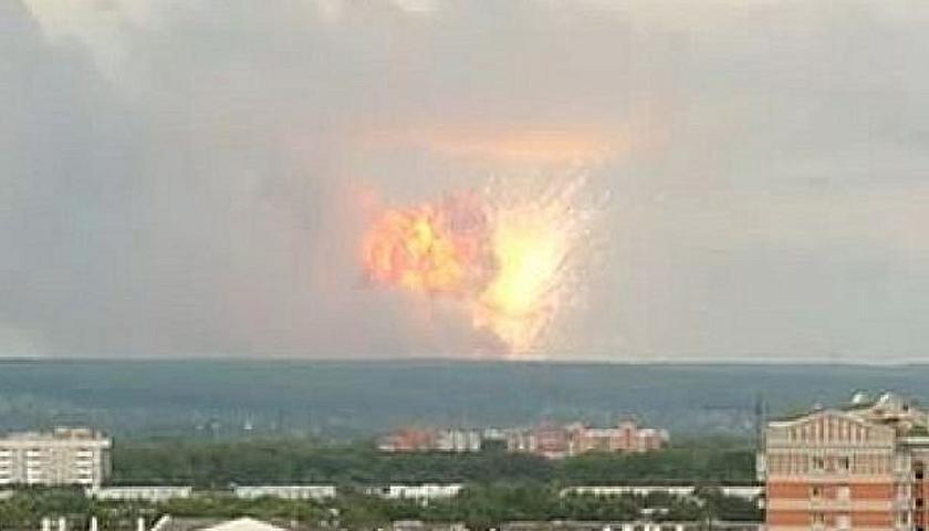 explozia de la Arhanghelsk