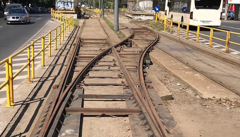 Tramvaiul 41 din Capitală va funcţiona doar pe un singur fir, pe Podul Grant.