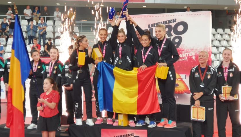 Naționala feminină a României, din nou campioană europeană la tenis de masă