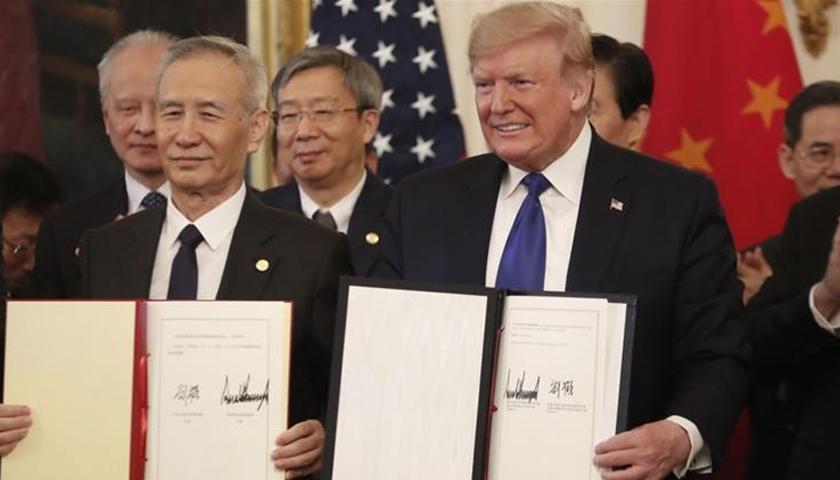 """Acord comercial """"istoric"""" între Statele Unite şi China"""