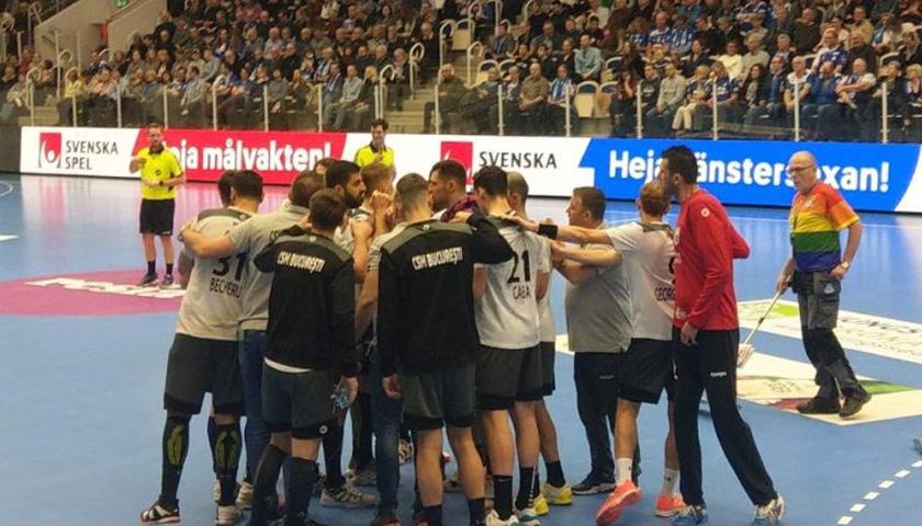 CSM Bucureşti a câştigat în Suedia, în optimile Cupei Challenge la handbal masculin